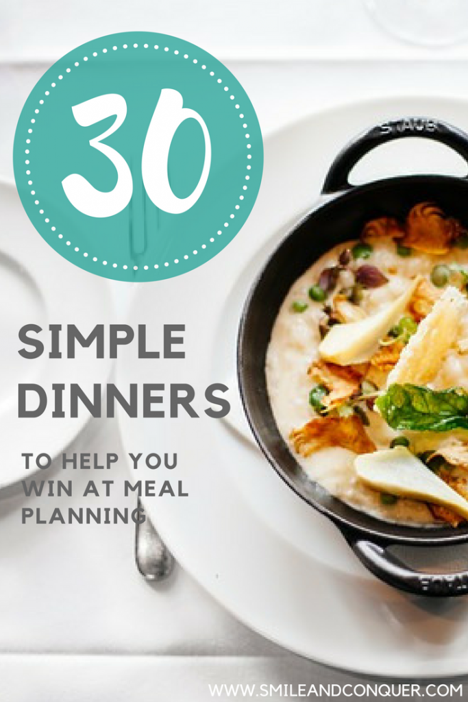 30 Day Meal Plan to help you simplify your #dinner plans and #savemoney