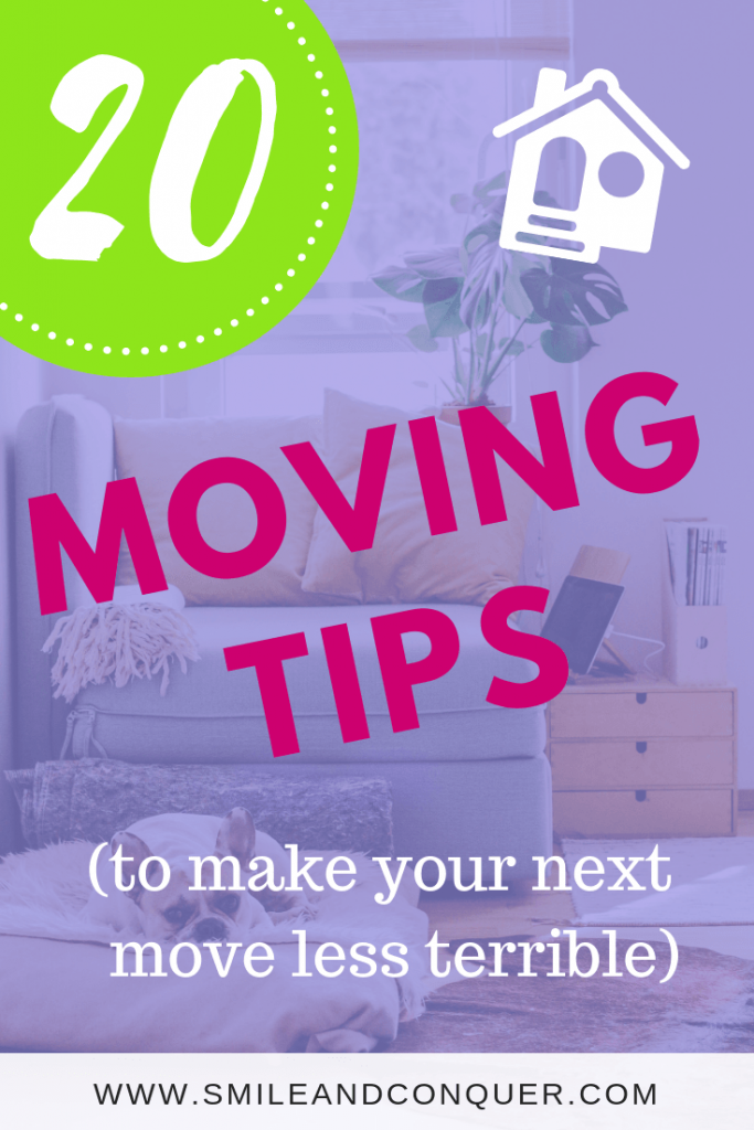 Planning a move? Check out these 20 moving tips that will make the process that much easier!