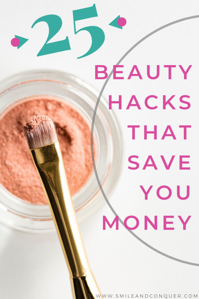 Love beauty products but don't love the cost? Try these 25 beauty hacks to save money.