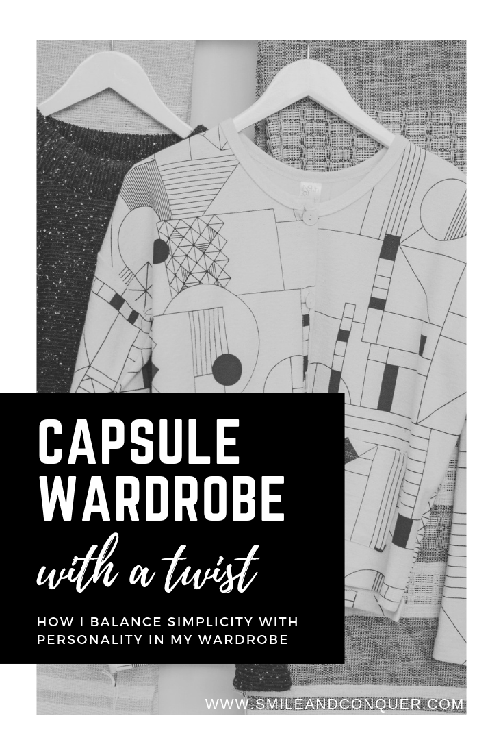 How I'm creating a capsule wardrobe with a twist. It's all about building a good base and then adding in a personality section. #capsulewardrobe #fashion